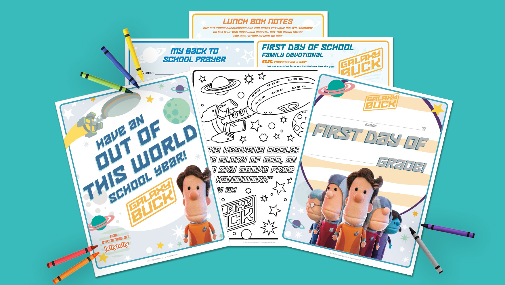 Free Back to School Activity Pack Featuring Galaxy Buck