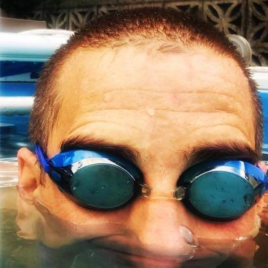 Ironman triathlete and low back pain sufferer Cam L. uses his Endless Pool for both
