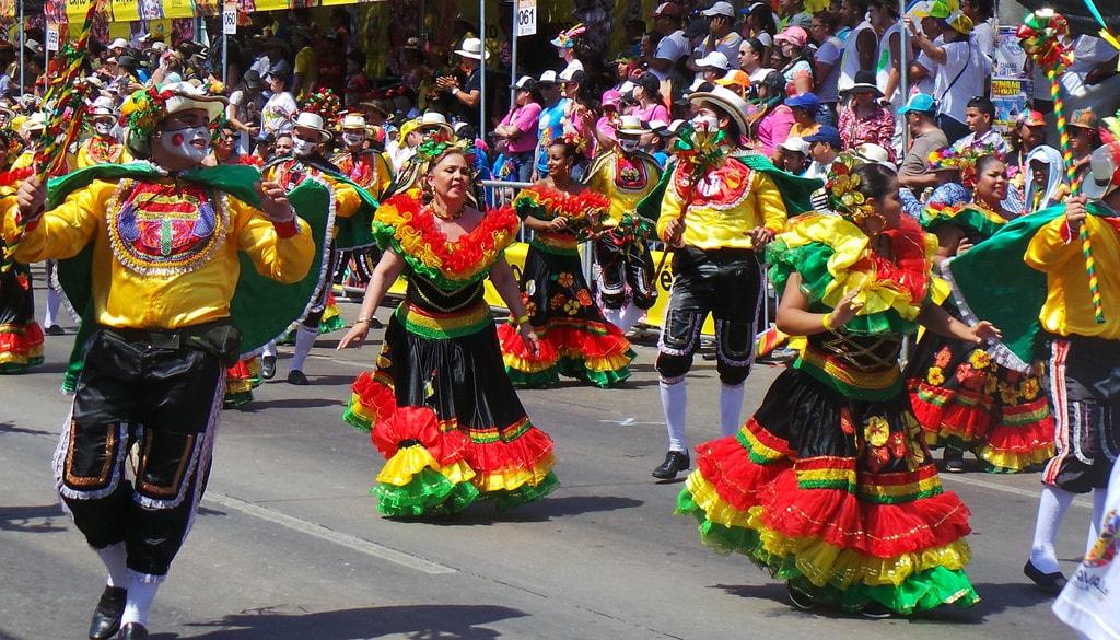 Barranquilla Colombia festival in dresses