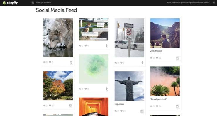 Juicer social media widget feed