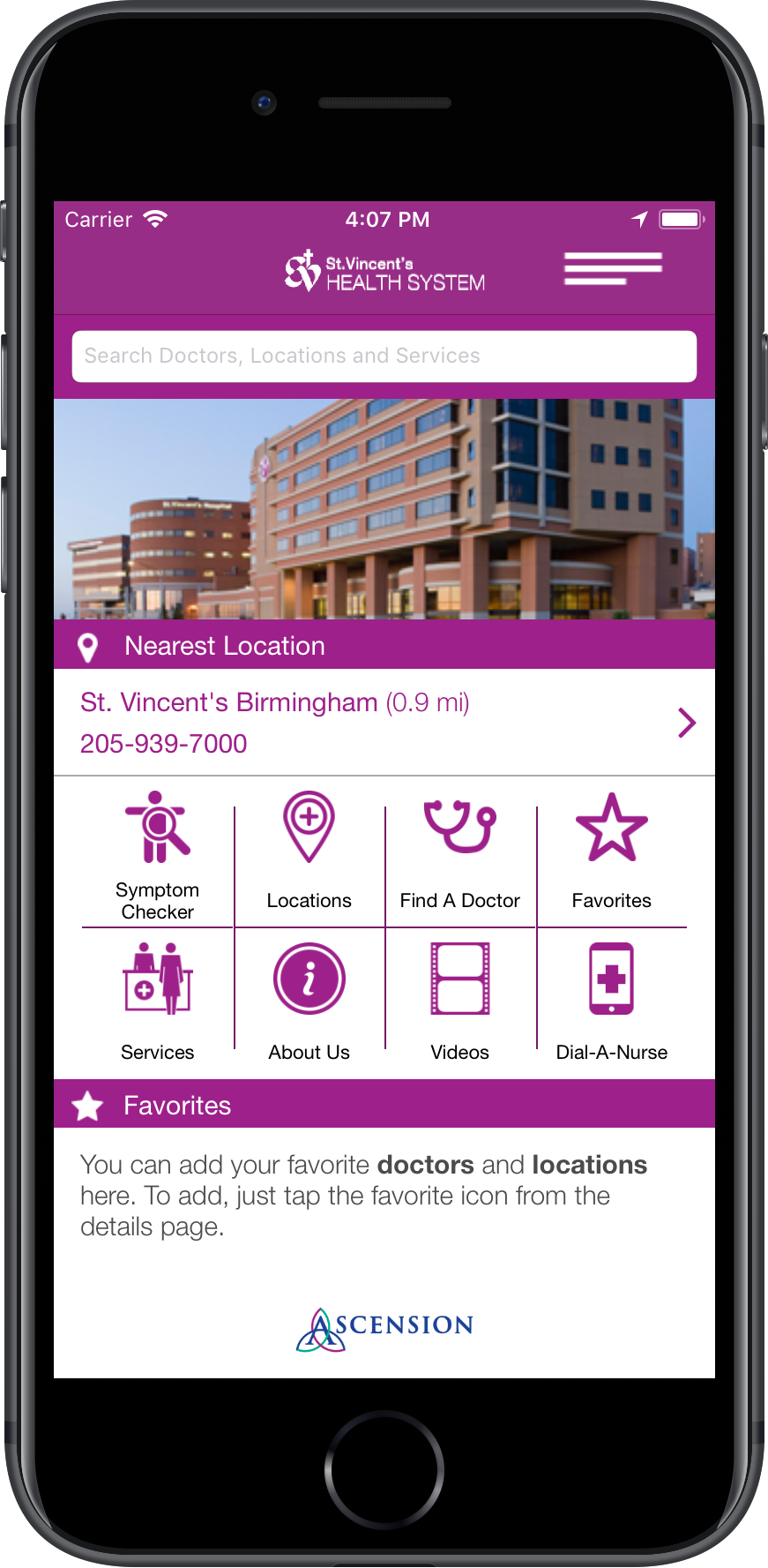 Ascension Hospital iOS & Android App