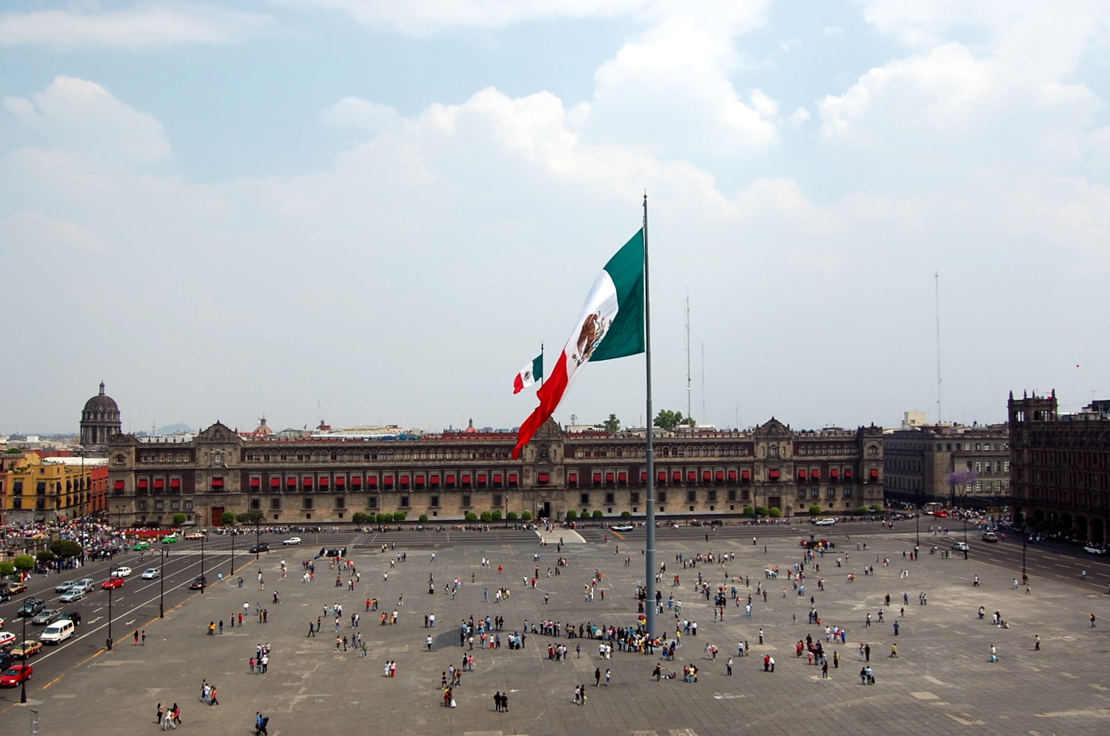 Zocalo is one of the best Mexico City landmarks