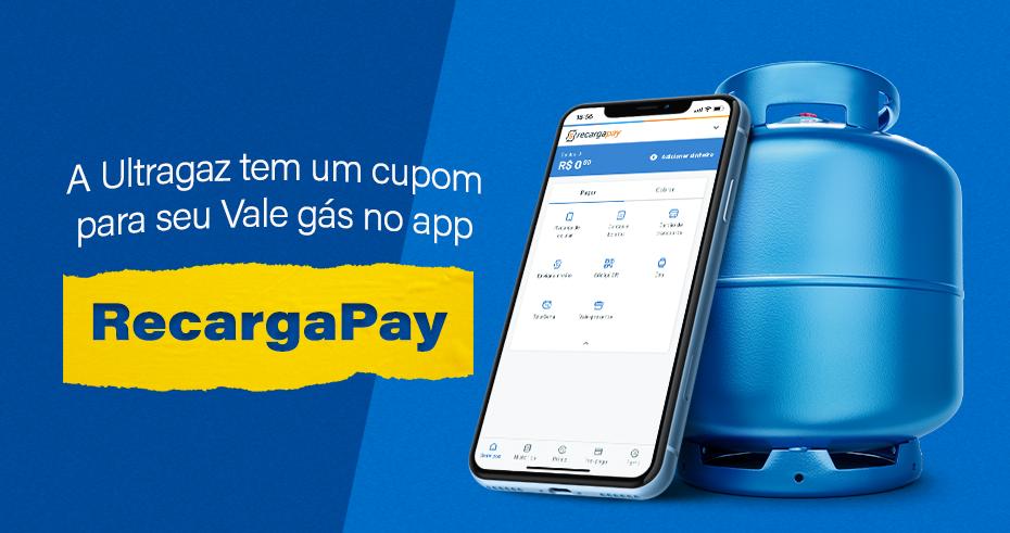 A Ultragaz tem um cupom para seu Vale gás no app RecargaPay!