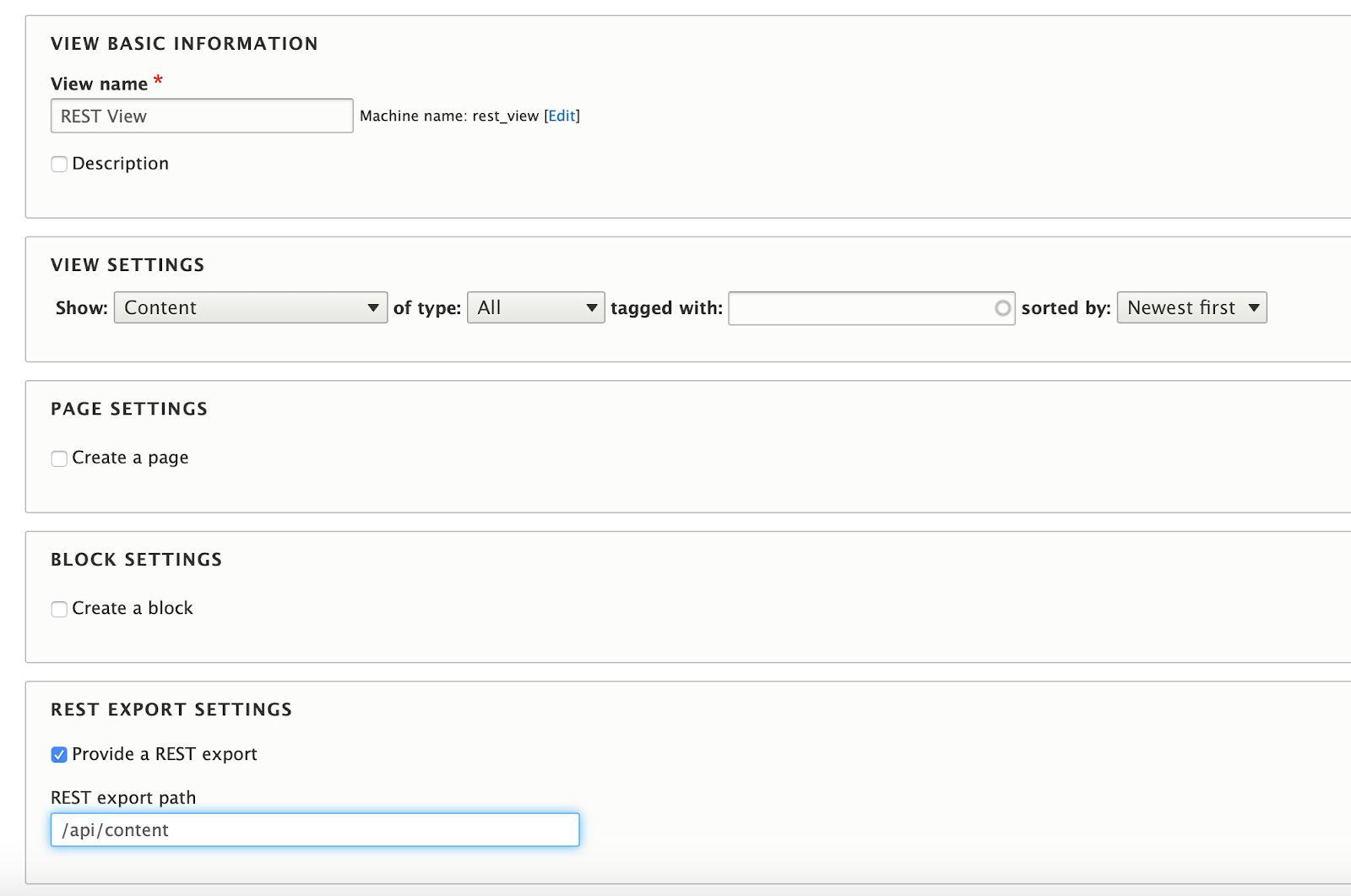 drupal REST API interface