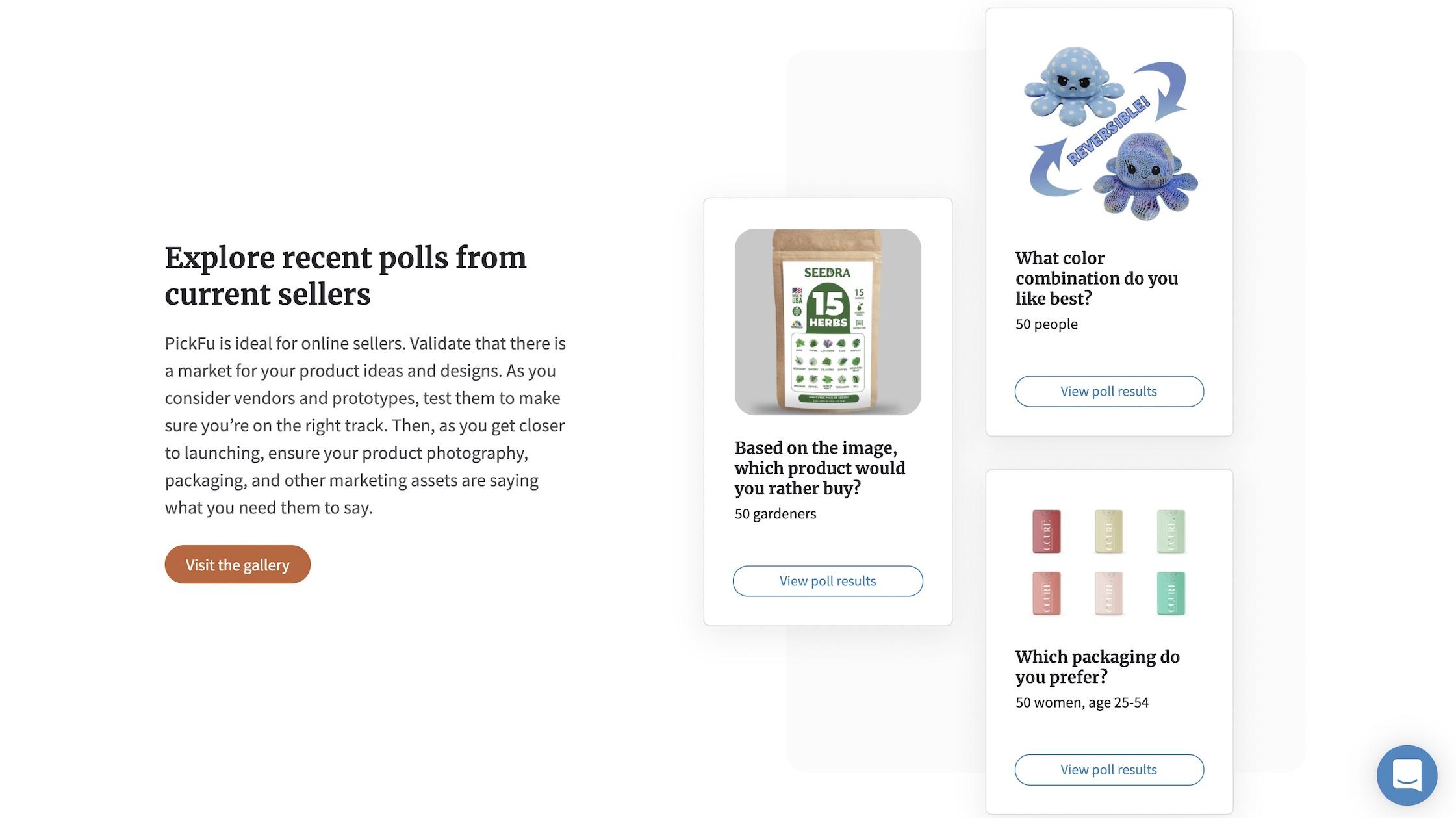 Image of recent PickFu polls