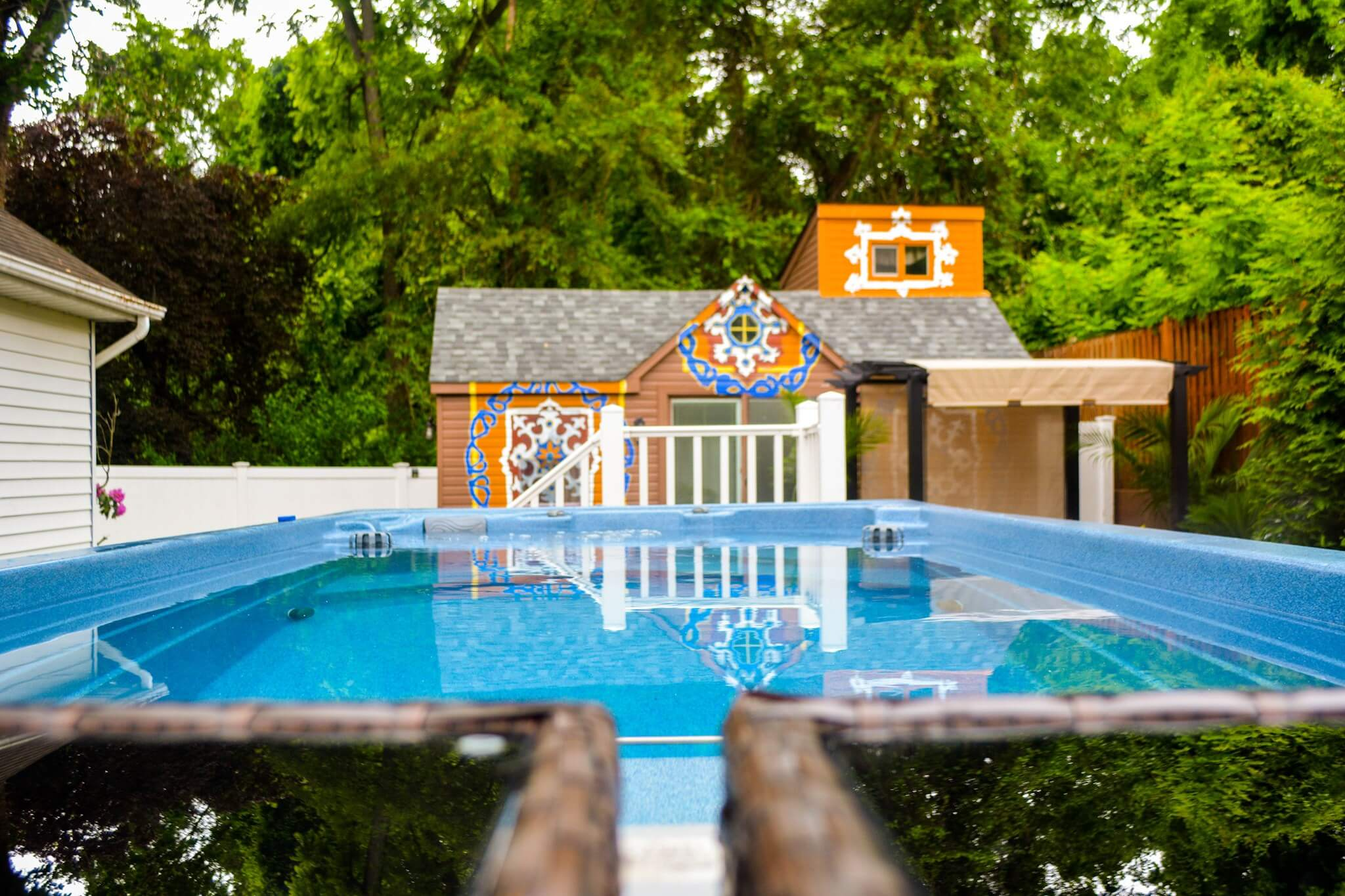 The Endless Pools swim spa at the Nelson Manor