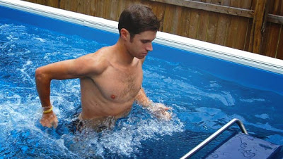 The adjustable underwater treadmill offers walking, jogging or running in the Endless Pool