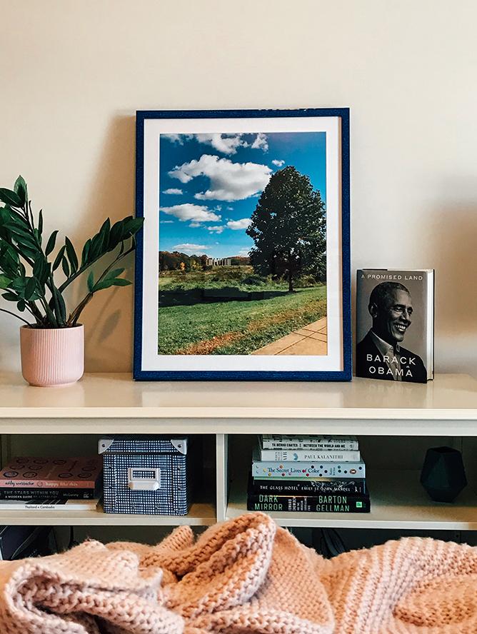 photo of blue frame