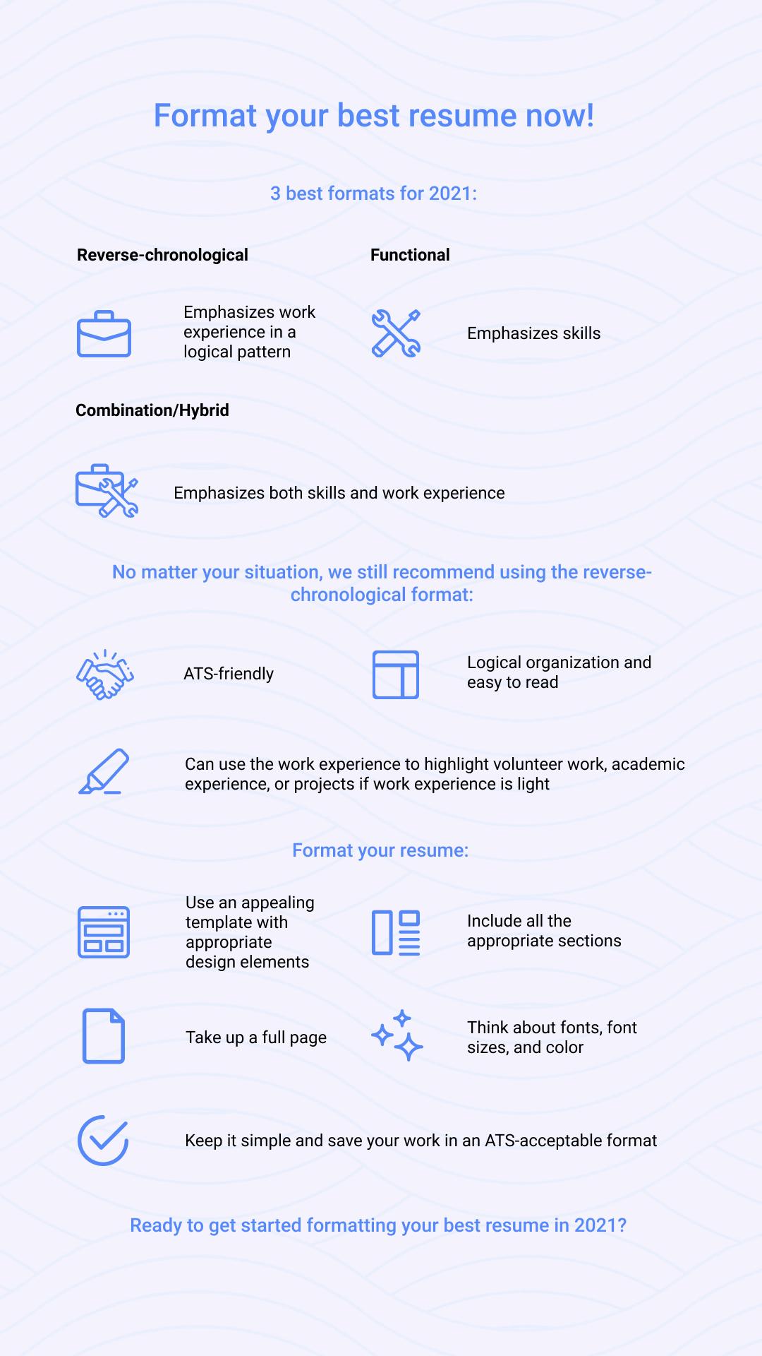 Resume formatting tips for 2021