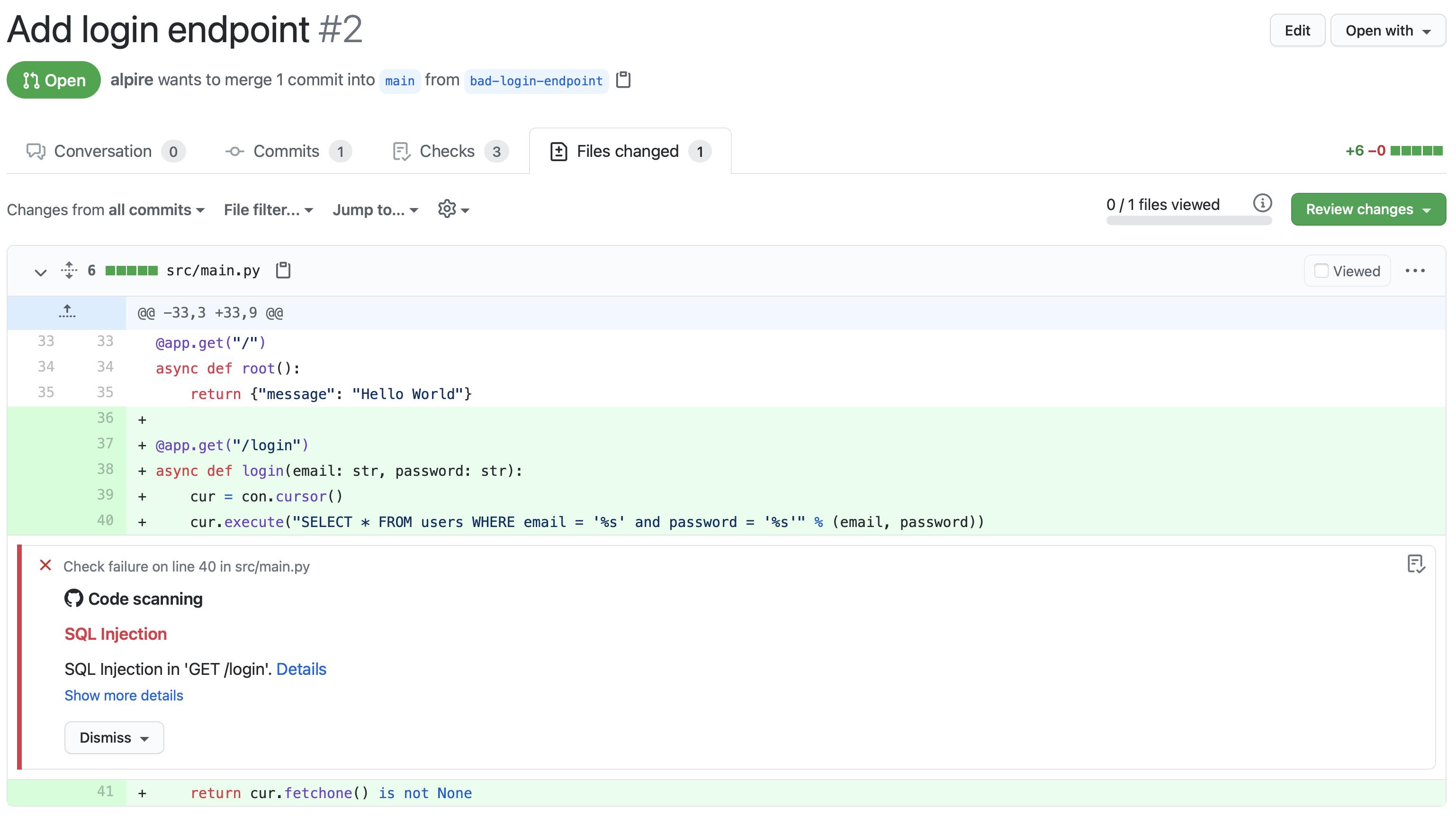Testing APIs through GitHub Code Scanning