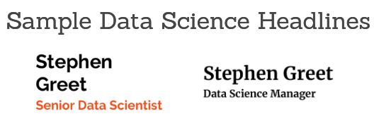 Data Science Resume Headline