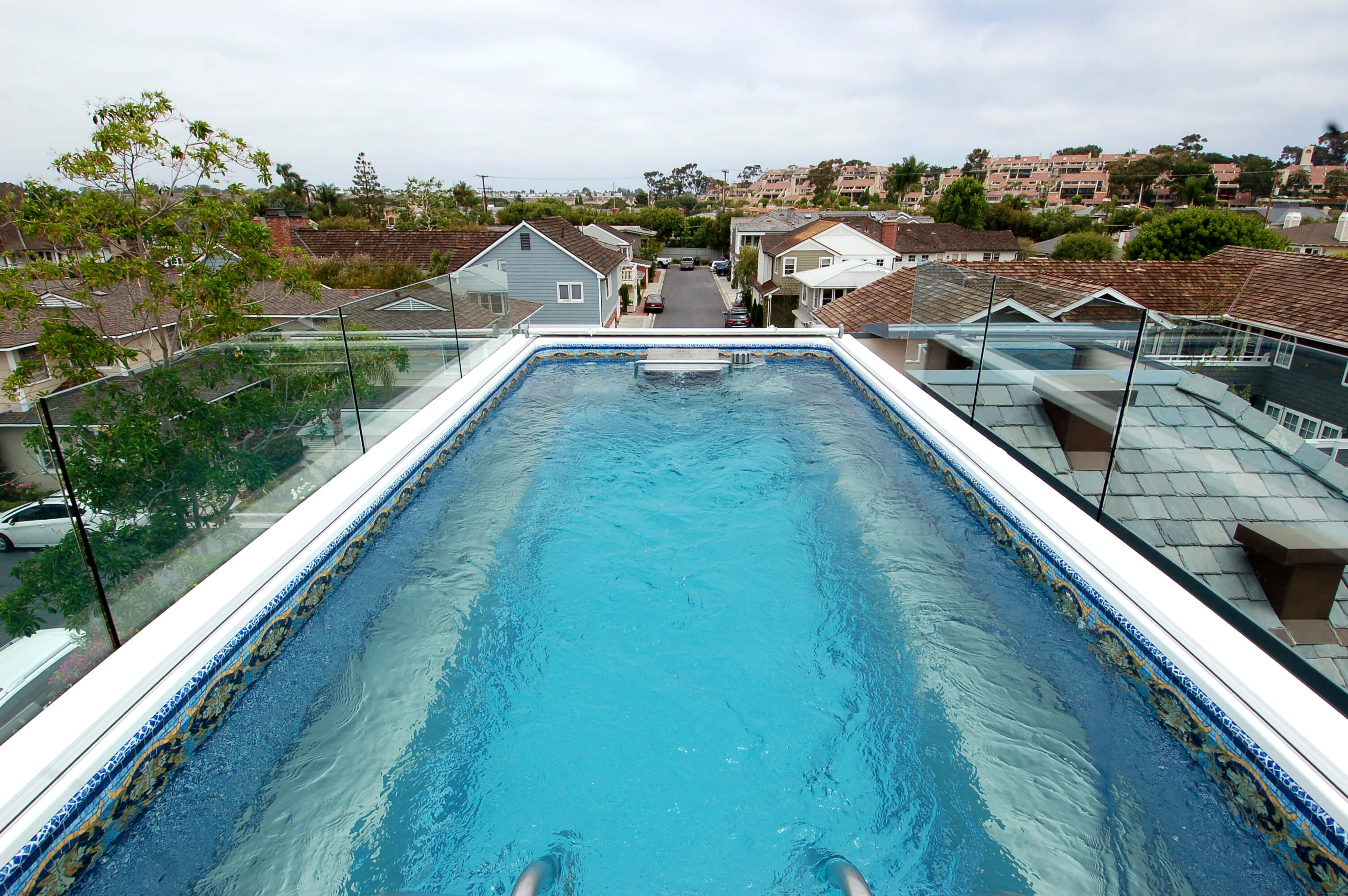 a rooftop Endless Pool in Southern California