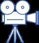 Ícone de câmera de vídeo