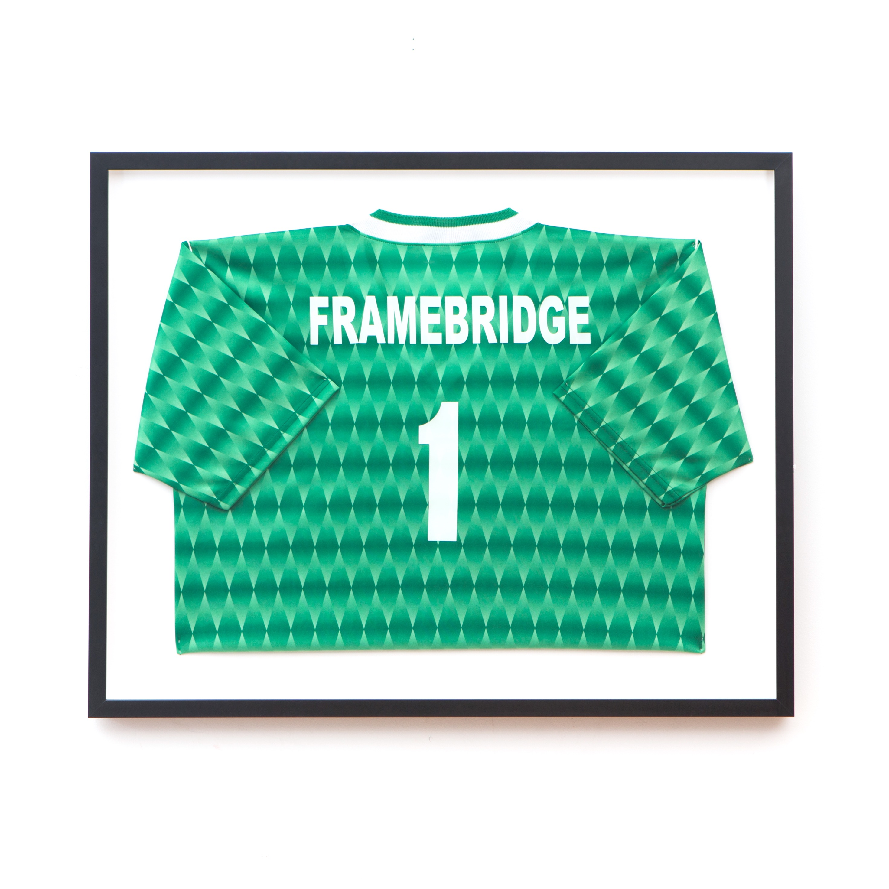 sports jersey in black frame