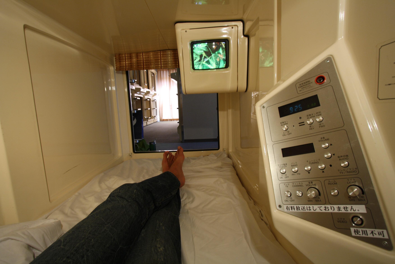 Capsule hotel in Tokyo,  one of the best cities to visit in Japan