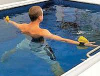 Aquatic aerobics performed in a Commercial Endless Pool