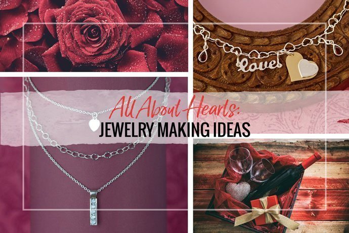 Get inspired with these heart themed jewelry making ideas for Valentine's Day or any time of year. Use interesting jewelry supplies and basic techniques.
