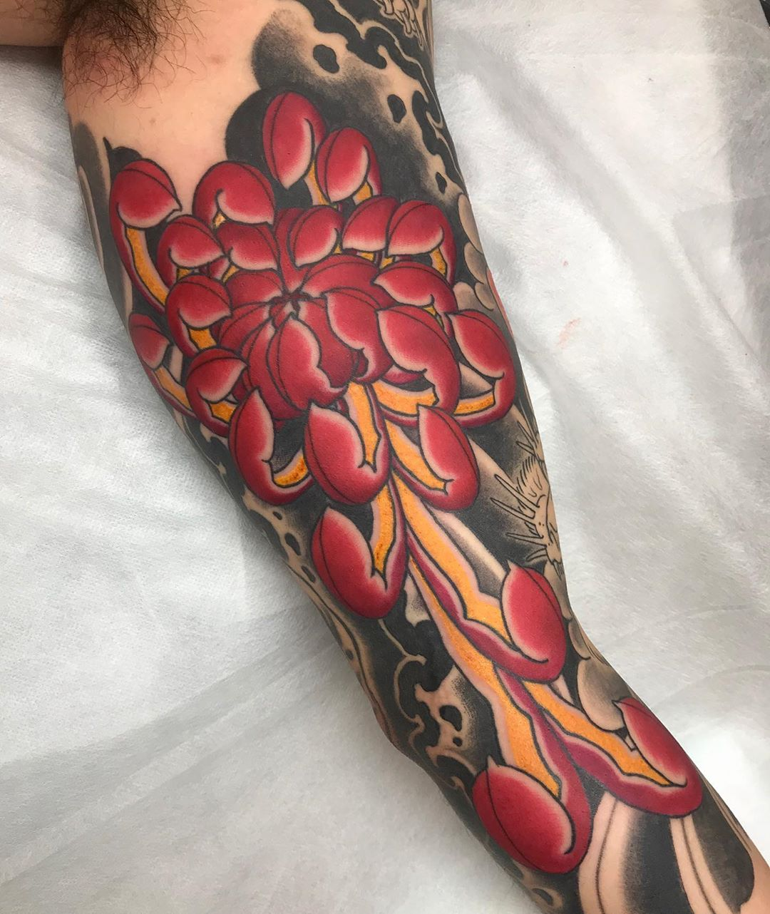 gareth parry chrysanthemum tattoo