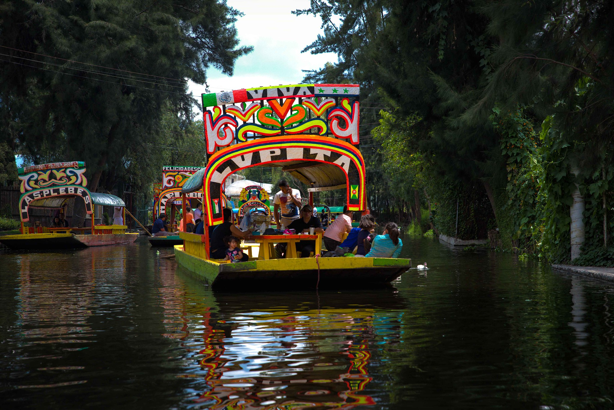 The floating gardens of Xochimilco is one of the Places to Visit in Mexico City - Flickr - Rod Waddington