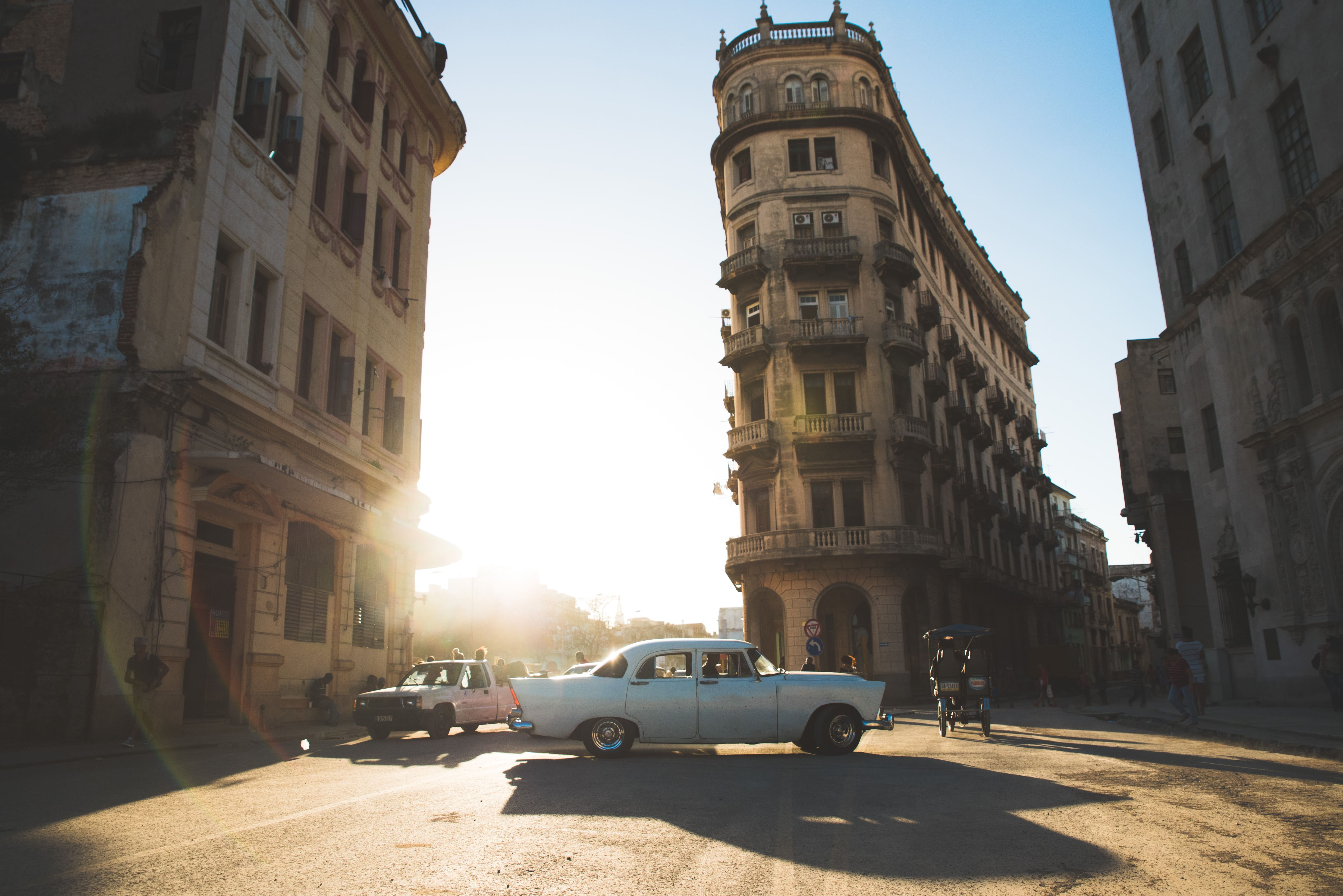 car and buildings in cuba