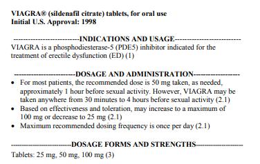Viagra FDA label -  how often can I take Viagra?