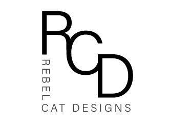 Rebel Cat Designs lettermark logo version two
