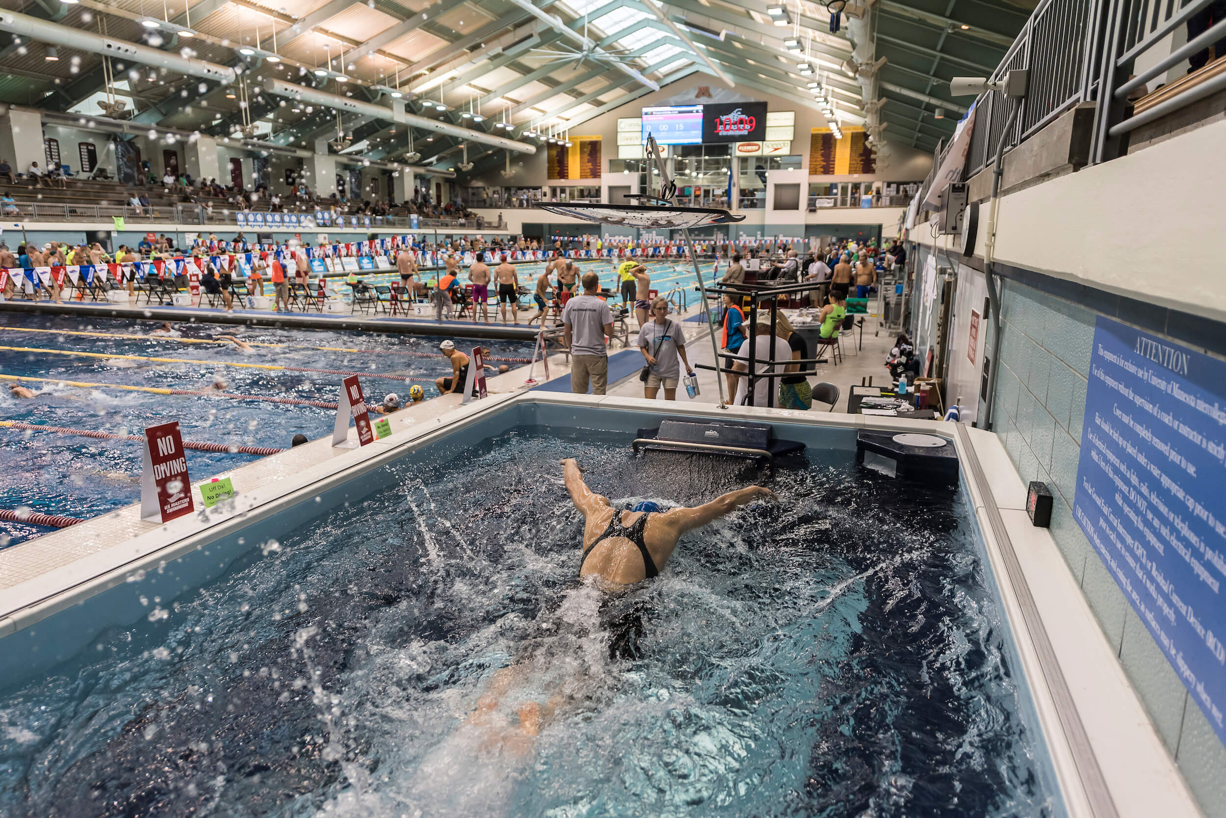 The Endless Pool at the U.S. Masters Swimming Summer Nationals