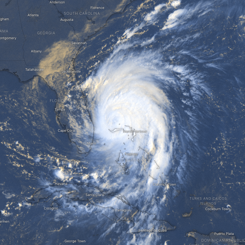 Hurricane Dorian on September 3rd, 2019.