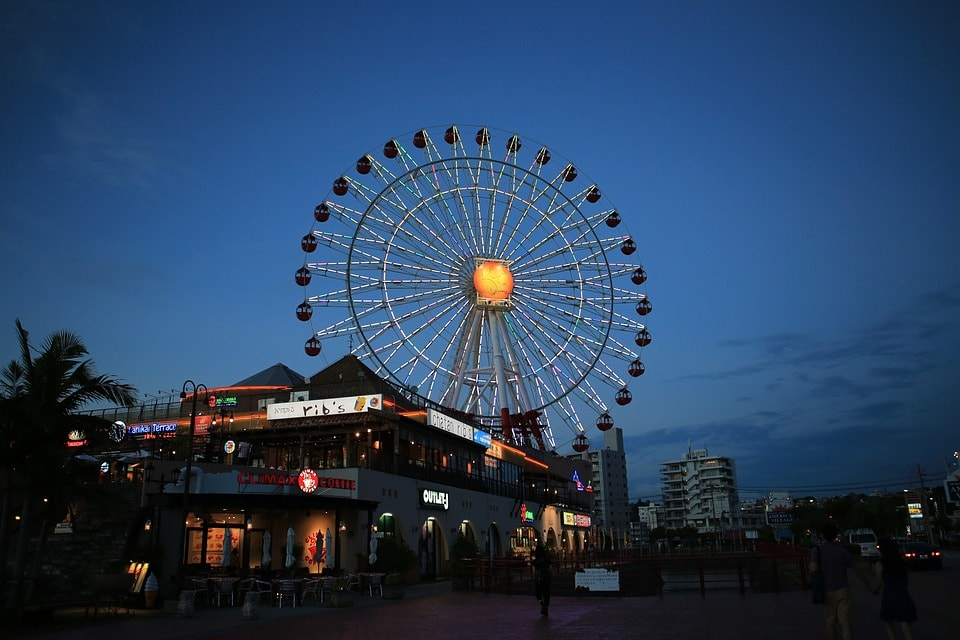 Tempozan rooftop Ferris Wheel in Osaka Japan