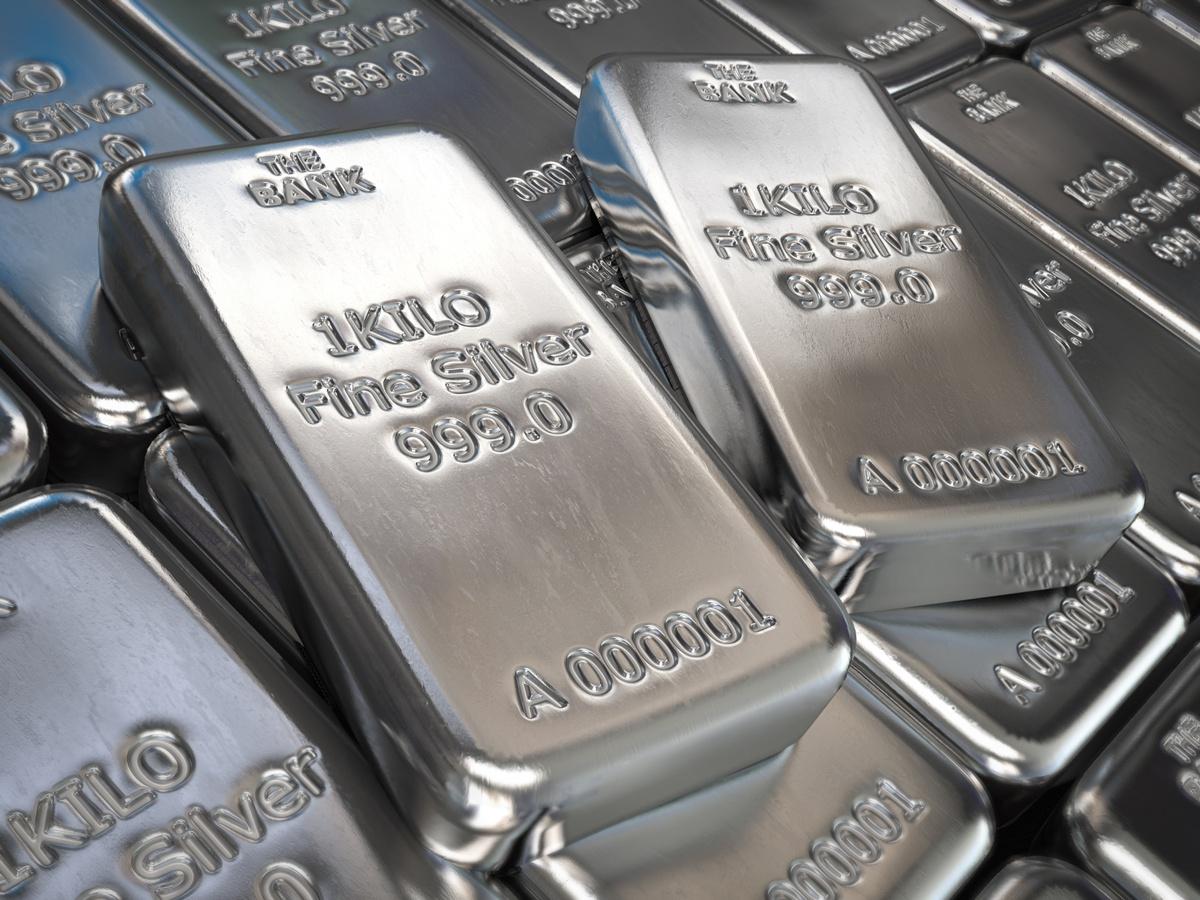 Bars of fine silver