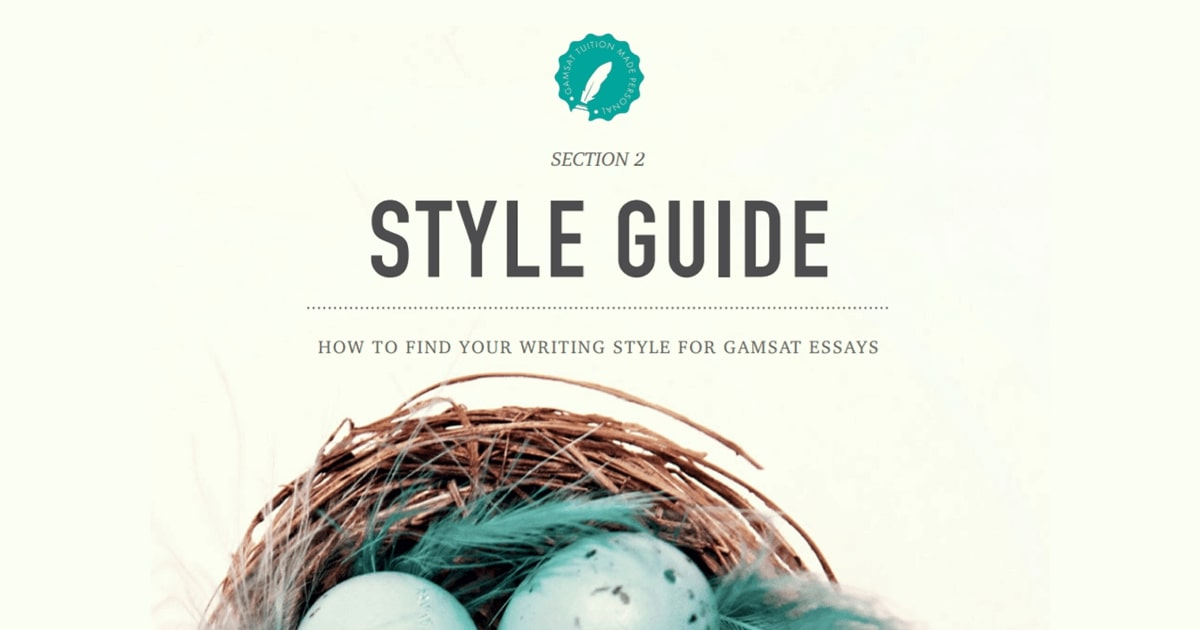 section 2 essay style guide