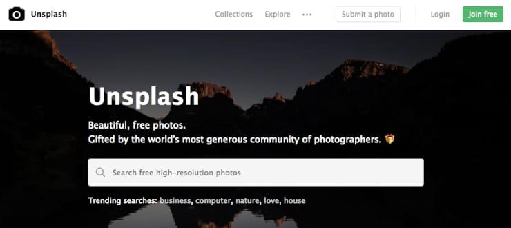 Unsplash images for social media