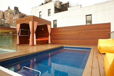 a rooftop Endless Pools swimming machine featured in New York Magazine