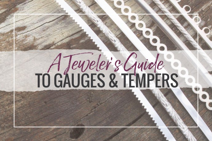 Learn how to select jewelry wire gauge thickness and hardness temper for your material needs in this handy guide to jewelry metals properties.