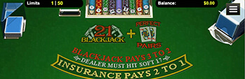 Intertops Casino Blackjack Perfect Pairs