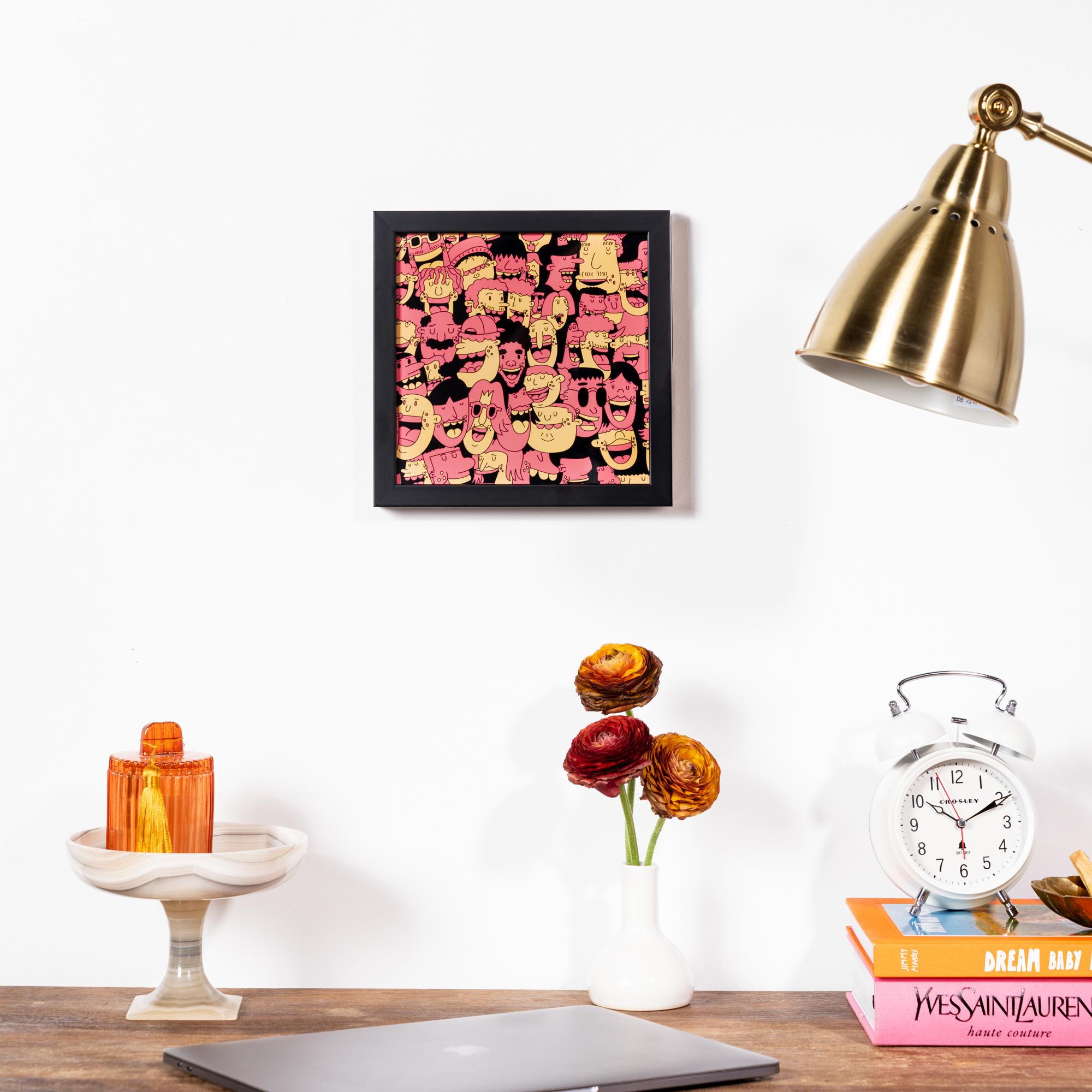 Framebridge Black Artists Print Shop George F Baker III Peeps_Orange framed print Mercer Slim frame