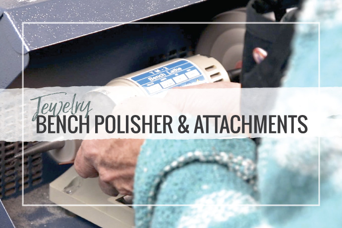 A jewelry bench polisher will save you time. From sanding, to satin and mirror finishes, this mini jewelry tool will become the workhorse in your studio!