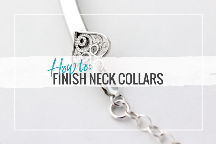 Learn how to finish collar necklaces in this tutorial covering the supplies and techniques you will need to know about to succeed.