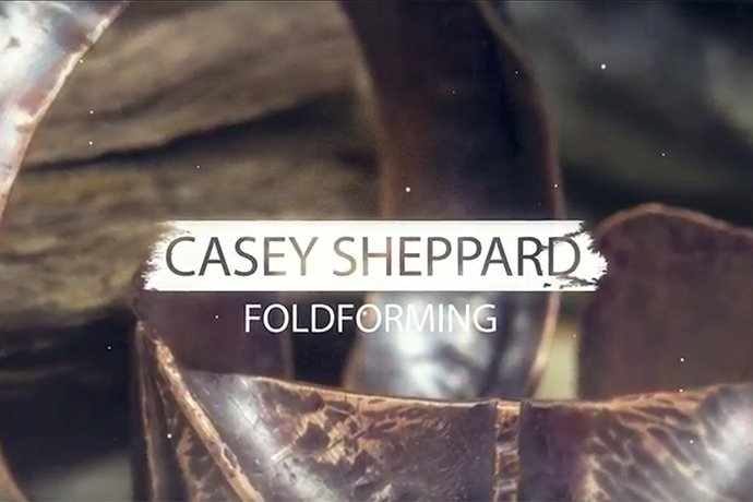 In this instructional video, Casey Sheppart demonstrates a basic line fold forming technique for metalsmithing. Explore tools and materials in this guide.