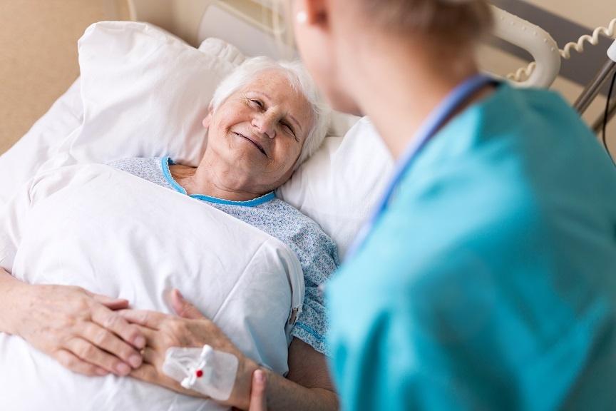 Nurse with patient - PDPM - Patient-Driven Payment Model - Nursing homes - skilled nursing facilities - SNF