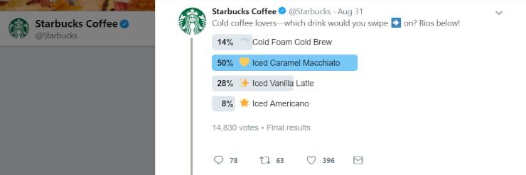 Starbucks social media engagement