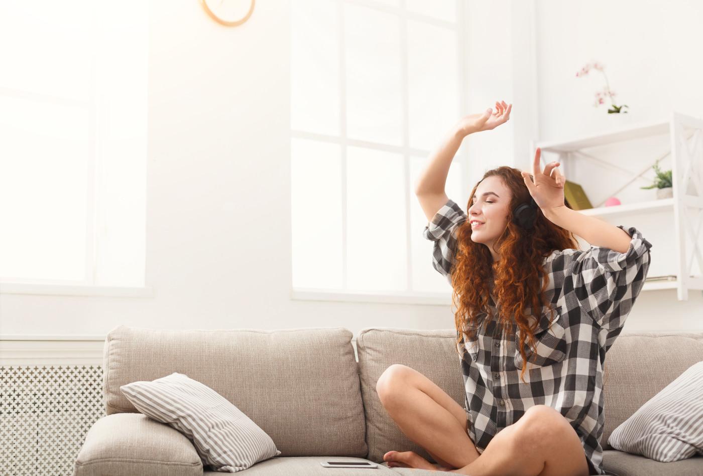 women happy becoming debt free