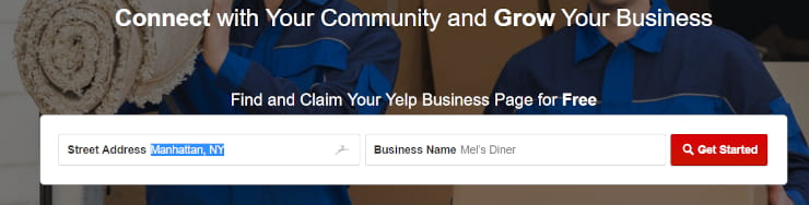 claim your Yelp business page