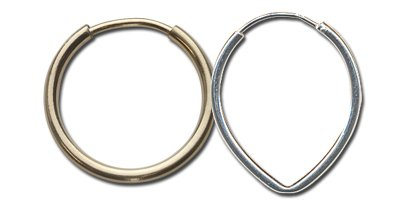 Endless earring hoops for making jewelry