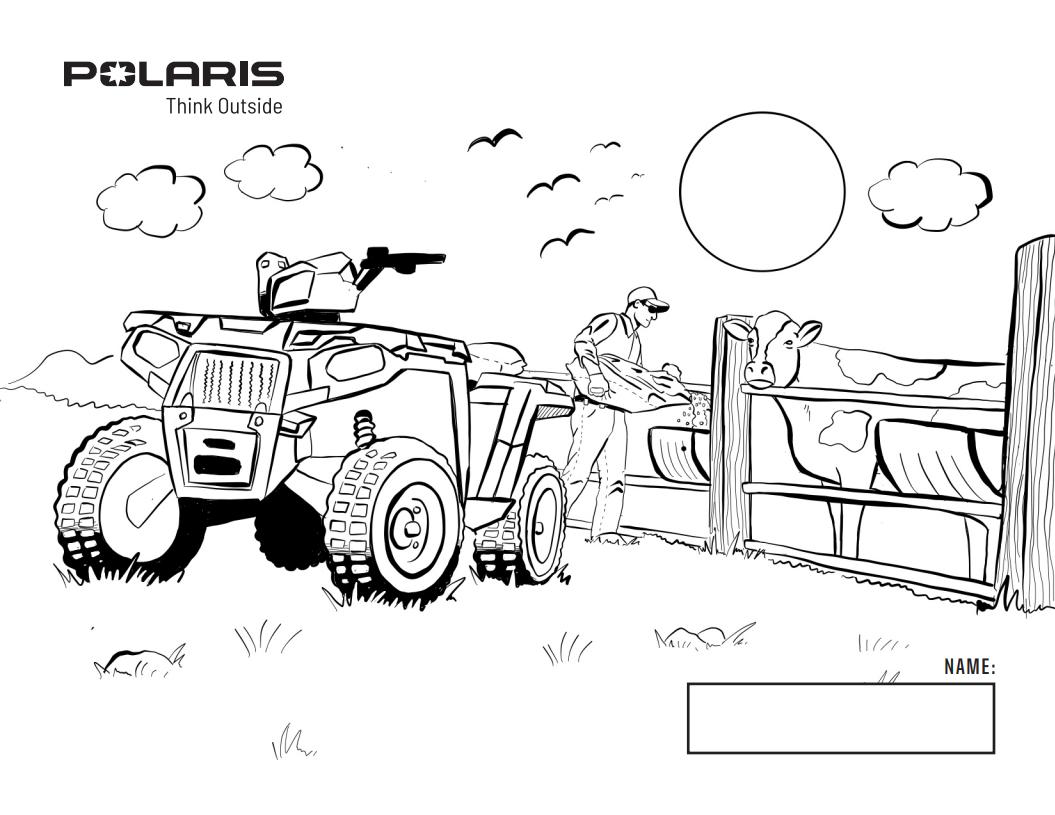 Polaris Coloring Book Freedom Powersports Mckinney