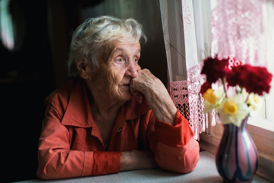 Elderly woman with behavior changes - Signs of Depression in the Elderly