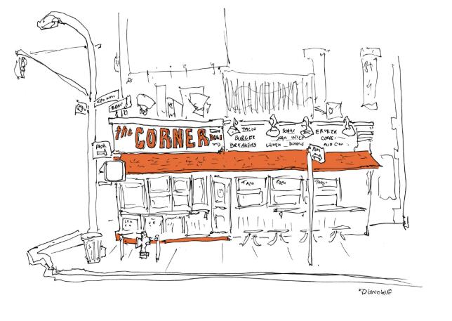 sketch of restaurant