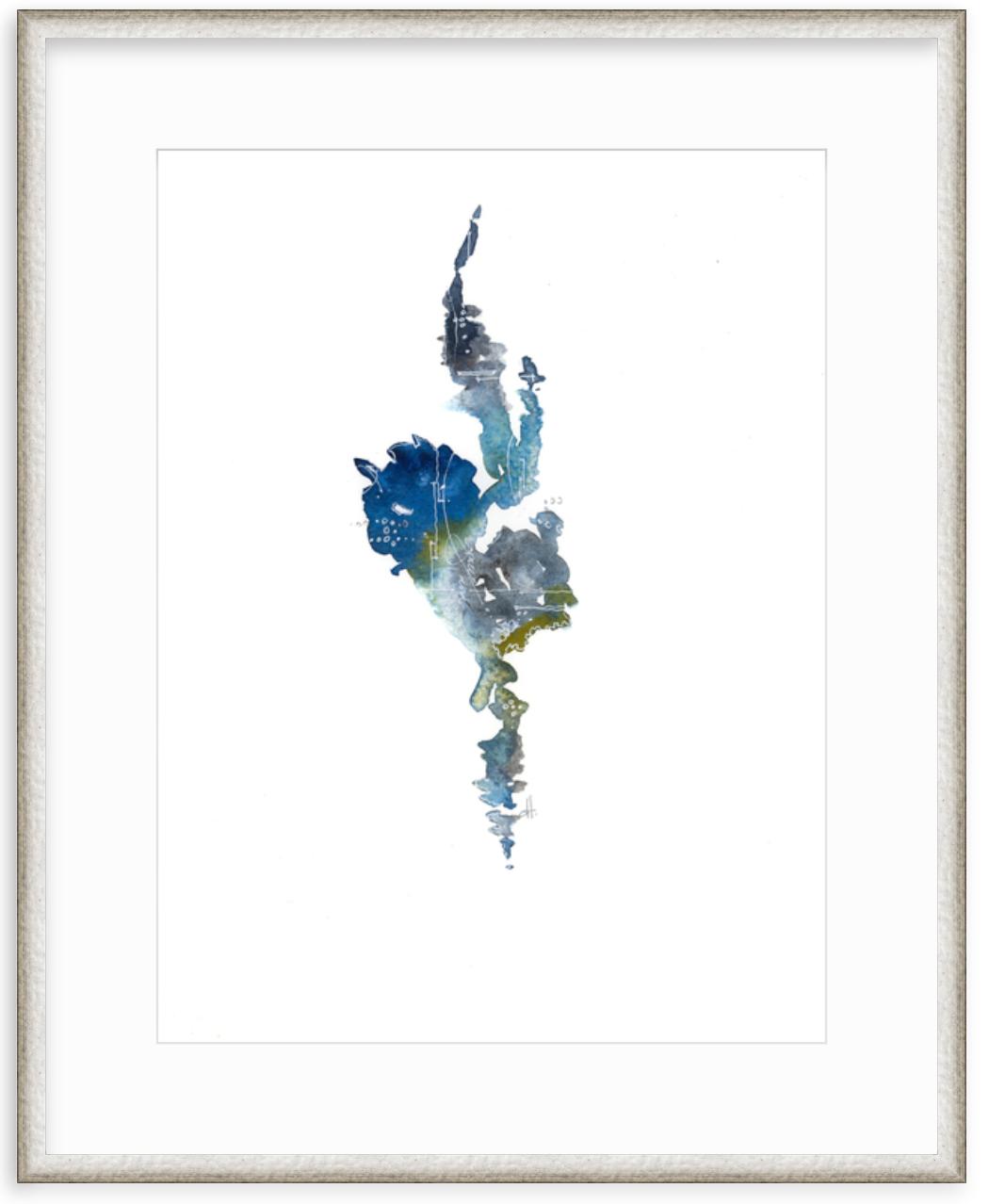 Flight 1 watercolor framed print art by Dawn Trimble