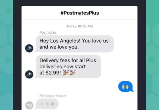 Regular Postmates