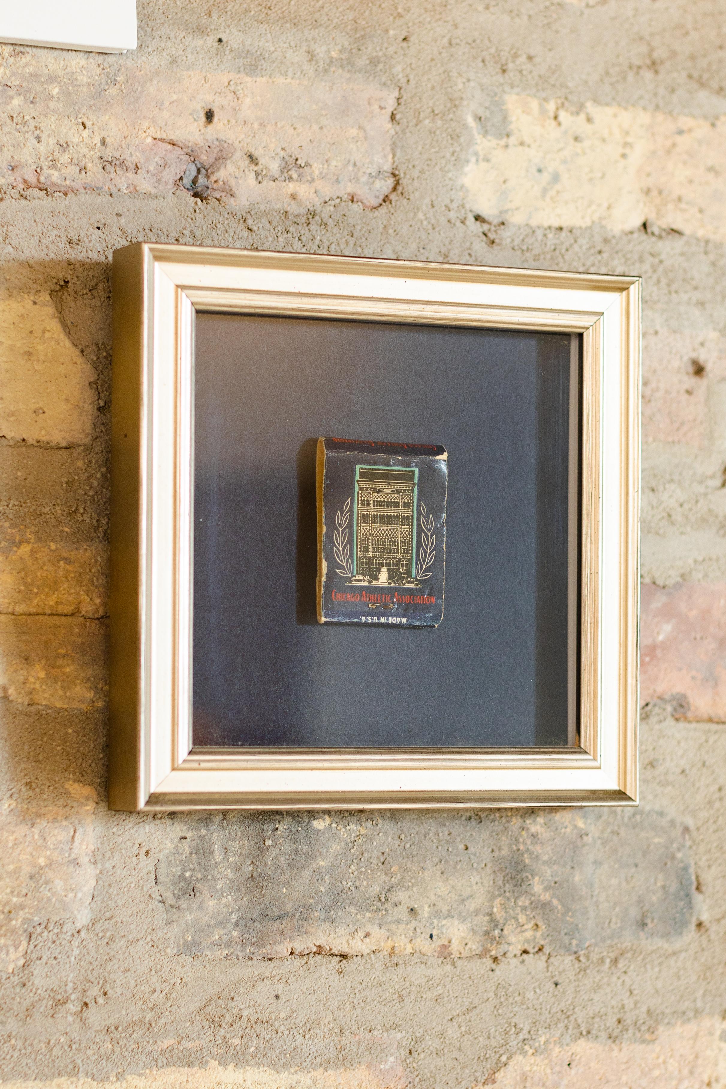 framed matchbook